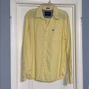 A button up yellow and white stripes. AE